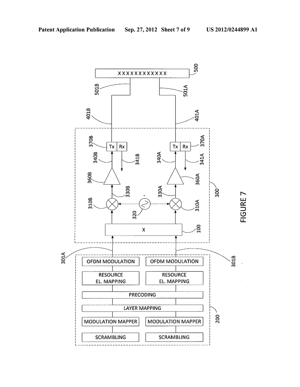 METHOD AND APPARATUS FOR ANTENNA RADIATION CROSS POLAR SUPPRESSION - diagram, schematic, and image 08