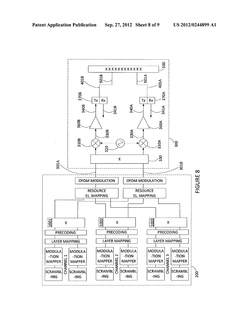 METHOD AND APPARATUS FOR ANTENNA RADIATION CROSS POLAR SUPPRESSION - diagram, schematic, and image 09