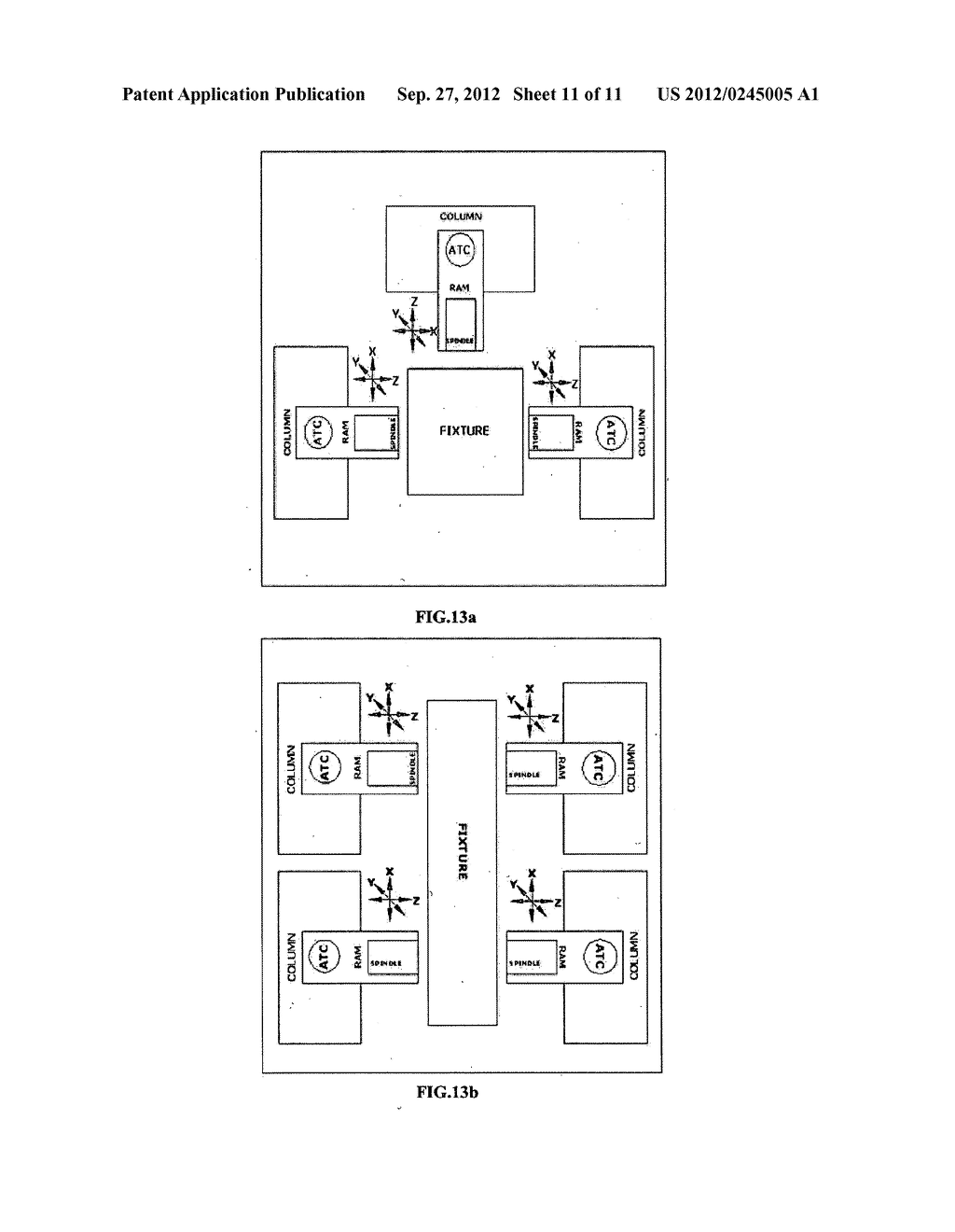 MULTI AXIS COLUMN MODULE, A METHOD OF SWAPPING TOOLS, AND A METHOD OF     ASSEMBLING - diagram, schematic, and image 12
