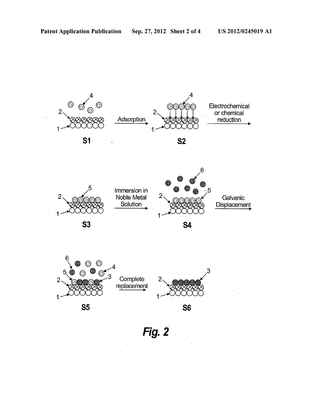 Method and Electrochemical Cell for Synthesis of Electrocatalysts by     Growing Metal Monolayers, or Bilayers and Treatment of Metal, Carbon,     Oxide and Core-Shell Nanoparticles - diagram, schematic, and image 03