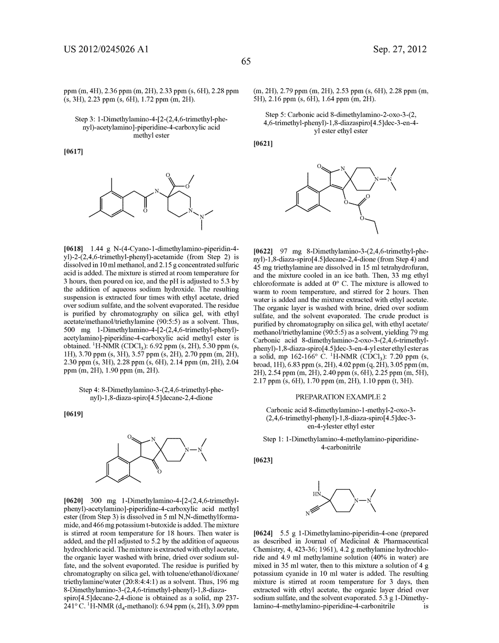 SPIRO FUSED 1-AMINO - PIPERDINE PYRROLIDINE DIONE DERIVATIVES WITH     PESTICIDAL ACTIVITY - diagram, schematic, and image 66