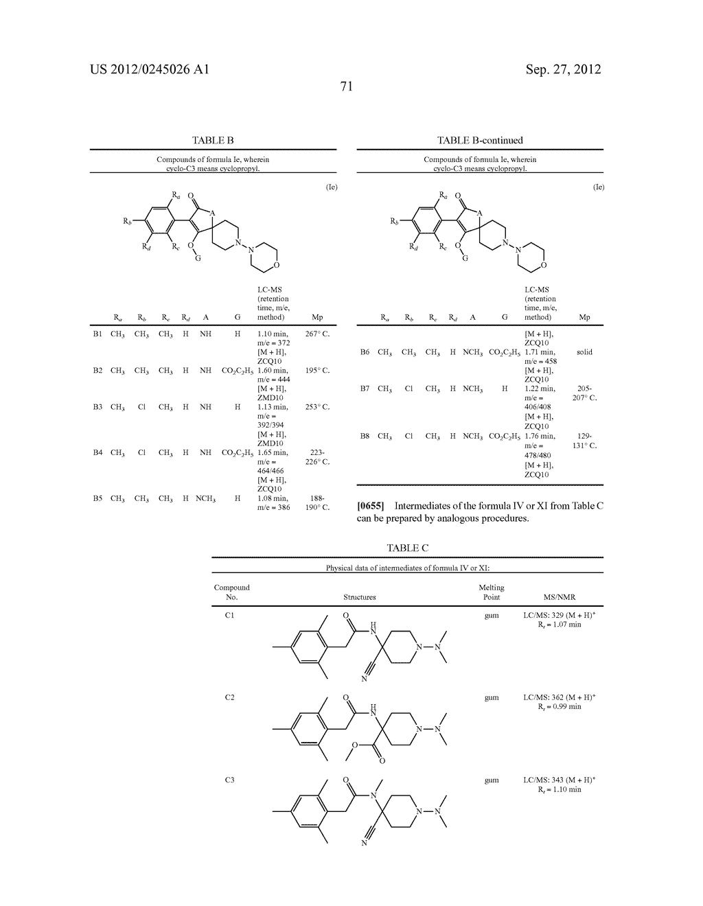 SPIRO FUSED 1-AMINO - PIPERDINE PYRROLIDINE DIONE DERIVATIVES WITH     PESTICIDAL ACTIVITY - diagram, schematic, and image 72