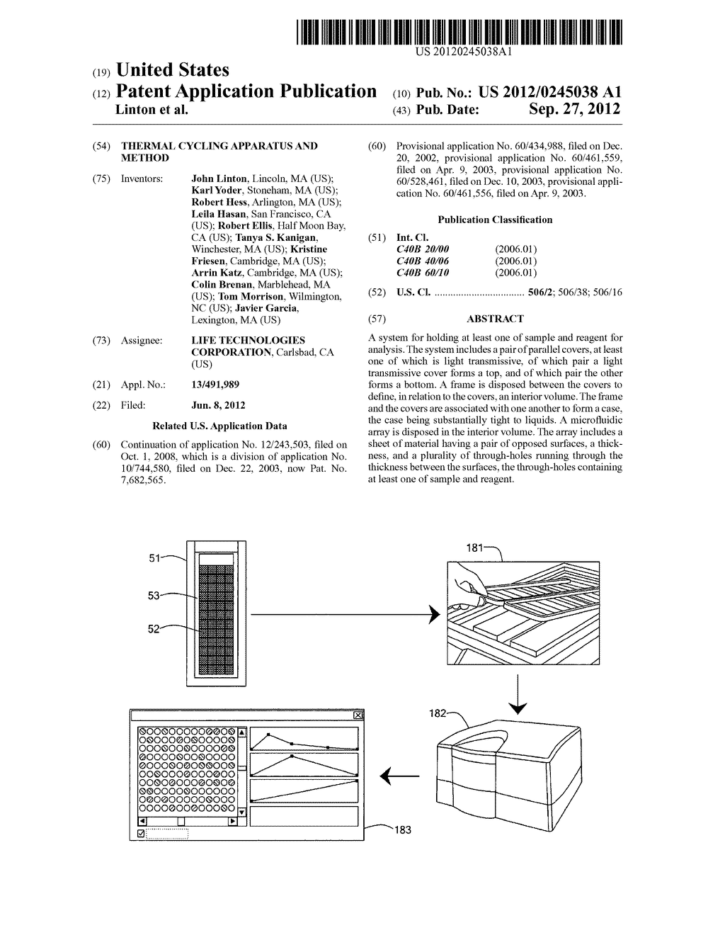 THERMAL CYCLING APPARATUS AND METHOD - diagram, schematic, and image 01