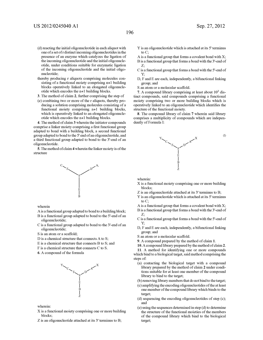 METHODS FOR SYNTHESIS OF ENCODED LIBRARIES - diagram, schematic, and image 210