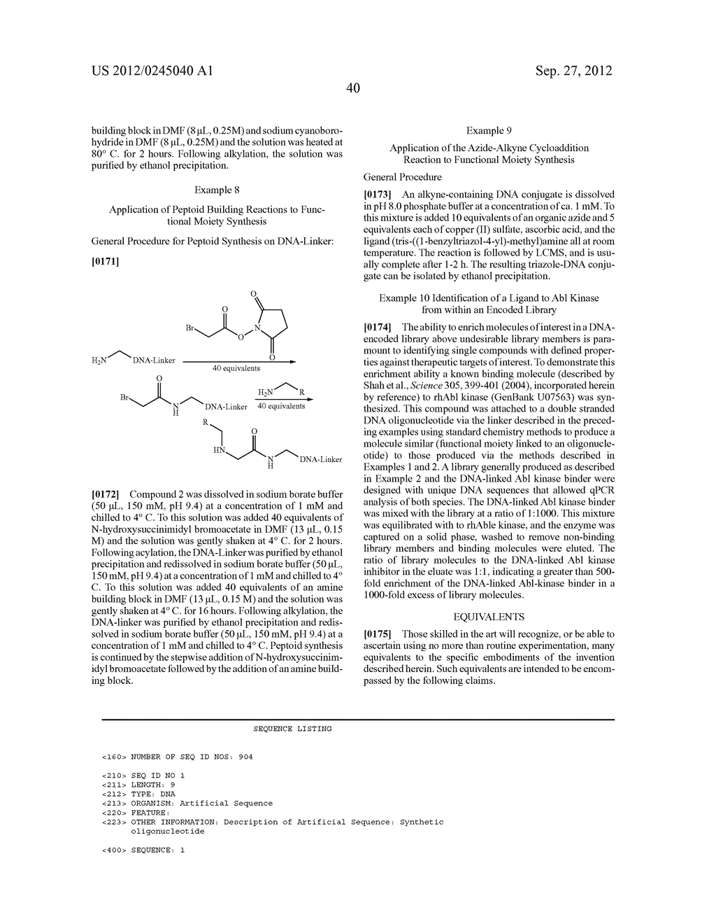 METHODS FOR SYNTHESIS OF ENCODED LIBRARIES - diagram, schematic, and image 54