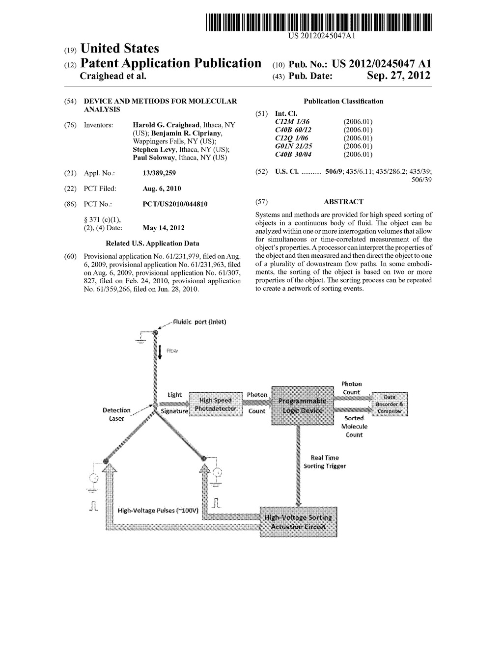 DEVICE AND METHODS FOR MOLECULAR ANALYSIS - diagram, schematic, and image 01