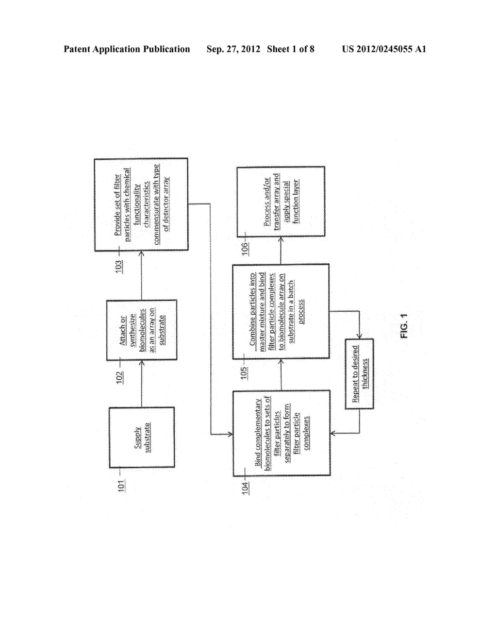 Method for Assembly of Analyte Filter Arrays Using Biomolecules - diagram, schematic, and image 02