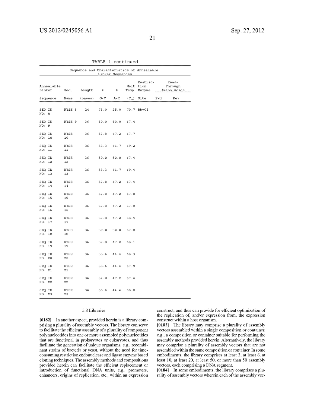 COMPOSITIONS AND METHODS FOR THE SAME ASSEMBLY OF POLYNUCLEOTIDES - diagram, schematic, and image 39