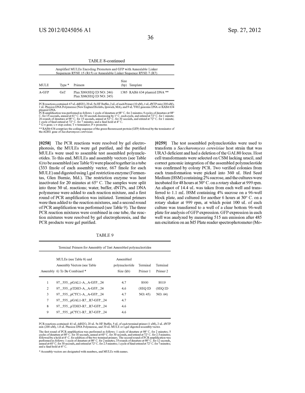 COMPOSITIONS AND METHODS FOR THE SAME ASSEMBLY OF POLYNUCLEOTIDES - diagram, schematic, and image 54