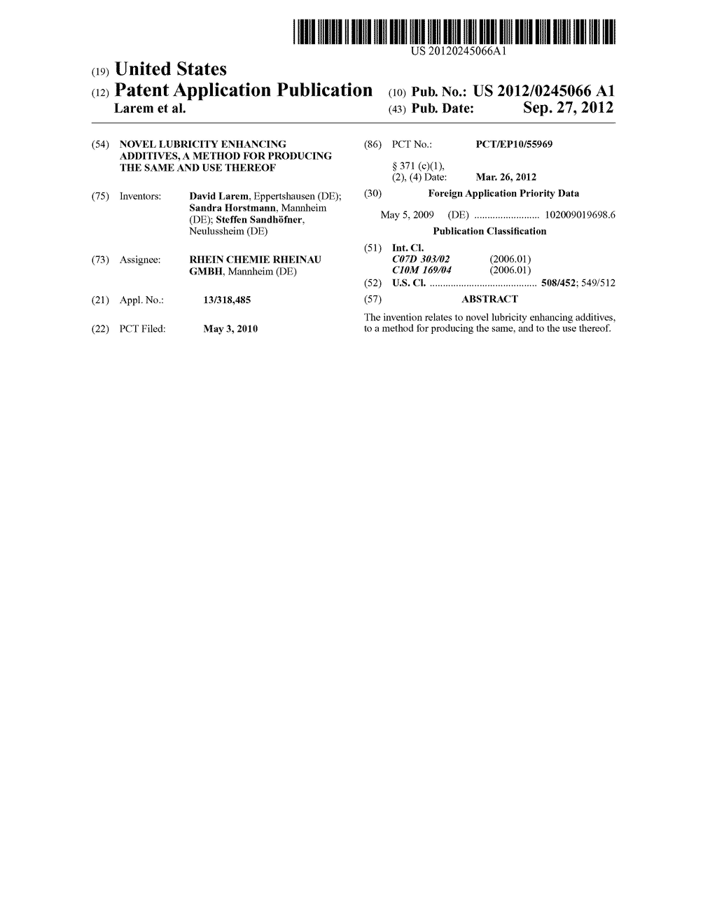 Novel Lubricity Enhancing Additives, a Method for Producing the Same and     use Thereof - diagram, schematic, and image 01