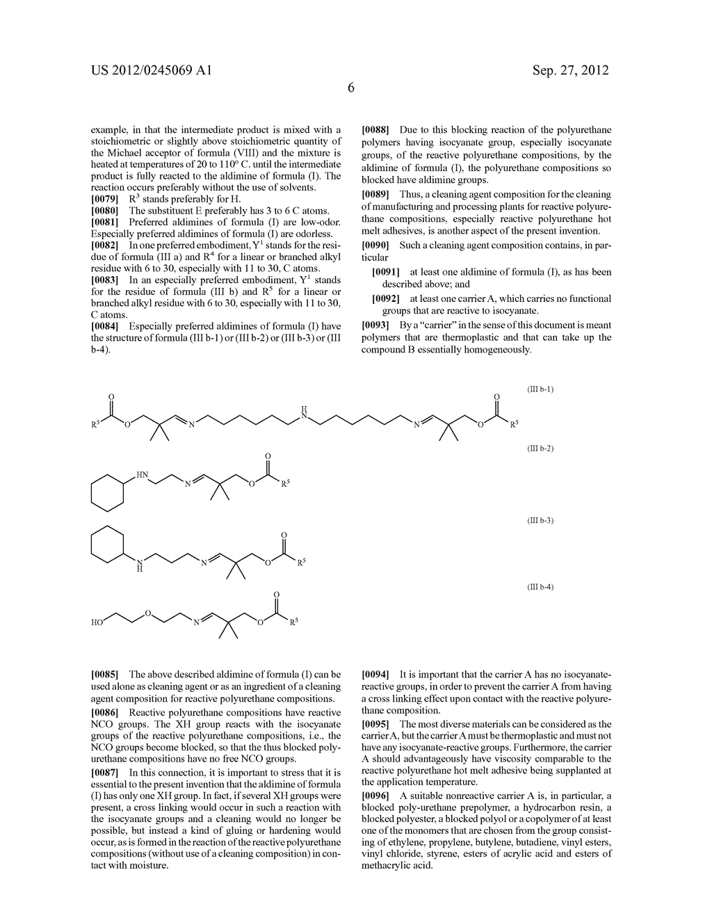 ALDIMINE CLEANING COMPOSITION FOR REACTIVE POLYURETHANE COMPOSITIONS - diagram, schematic, and image 07