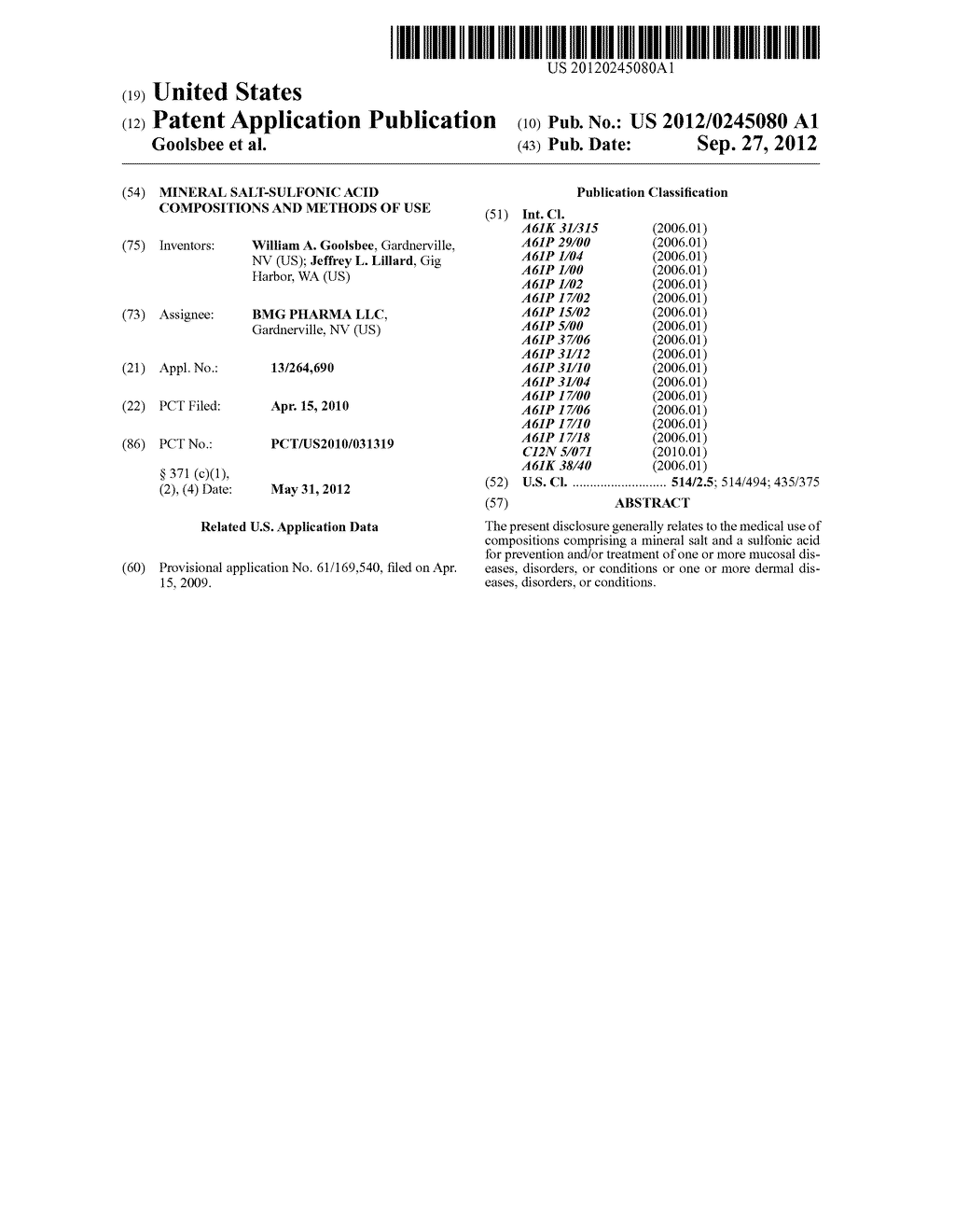 MINERAL SALT-SULFONIC ACID COMPOSITIONS AND METHODS OF USE - diagram, schematic, and image 01