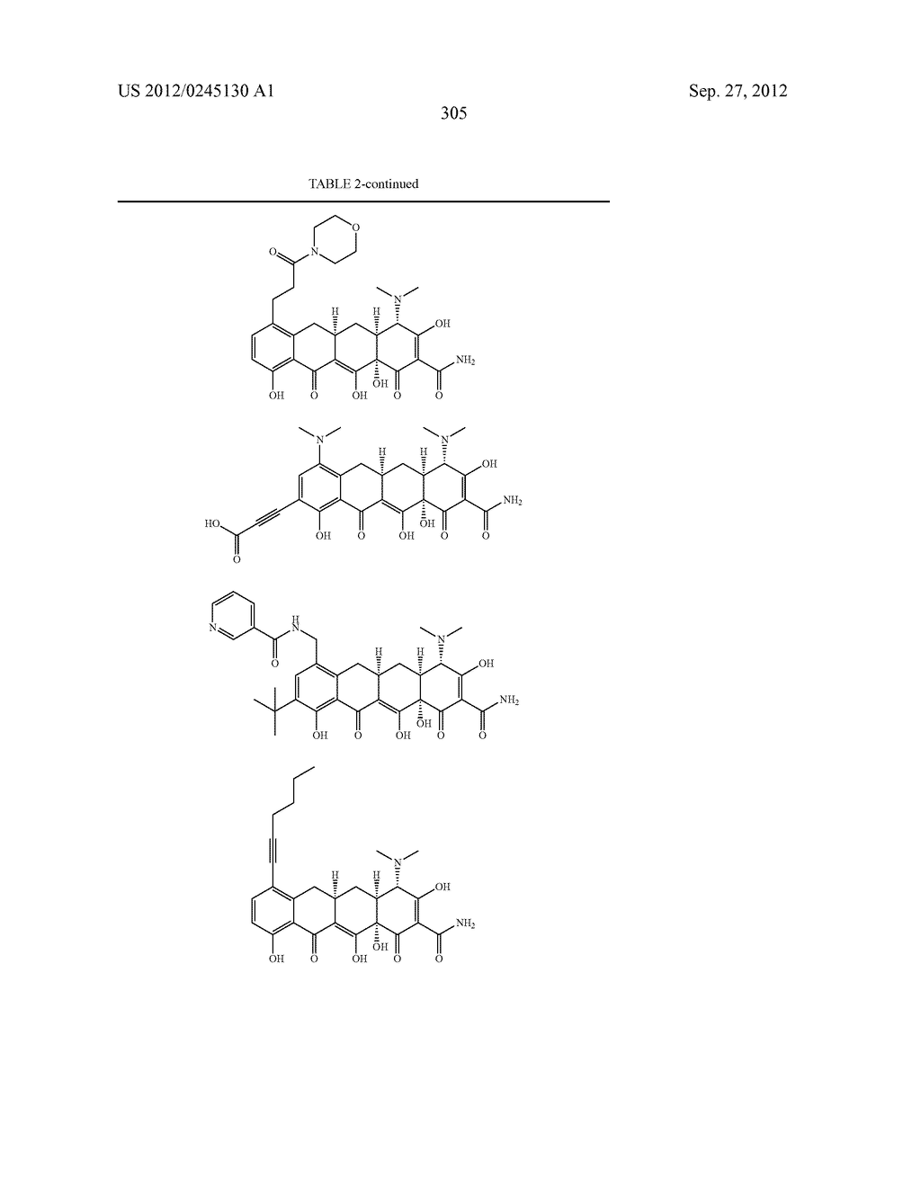 Methods of Using Substituted Tetracycline Compounds to Modulate RNA - diagram, schematic, and image 307