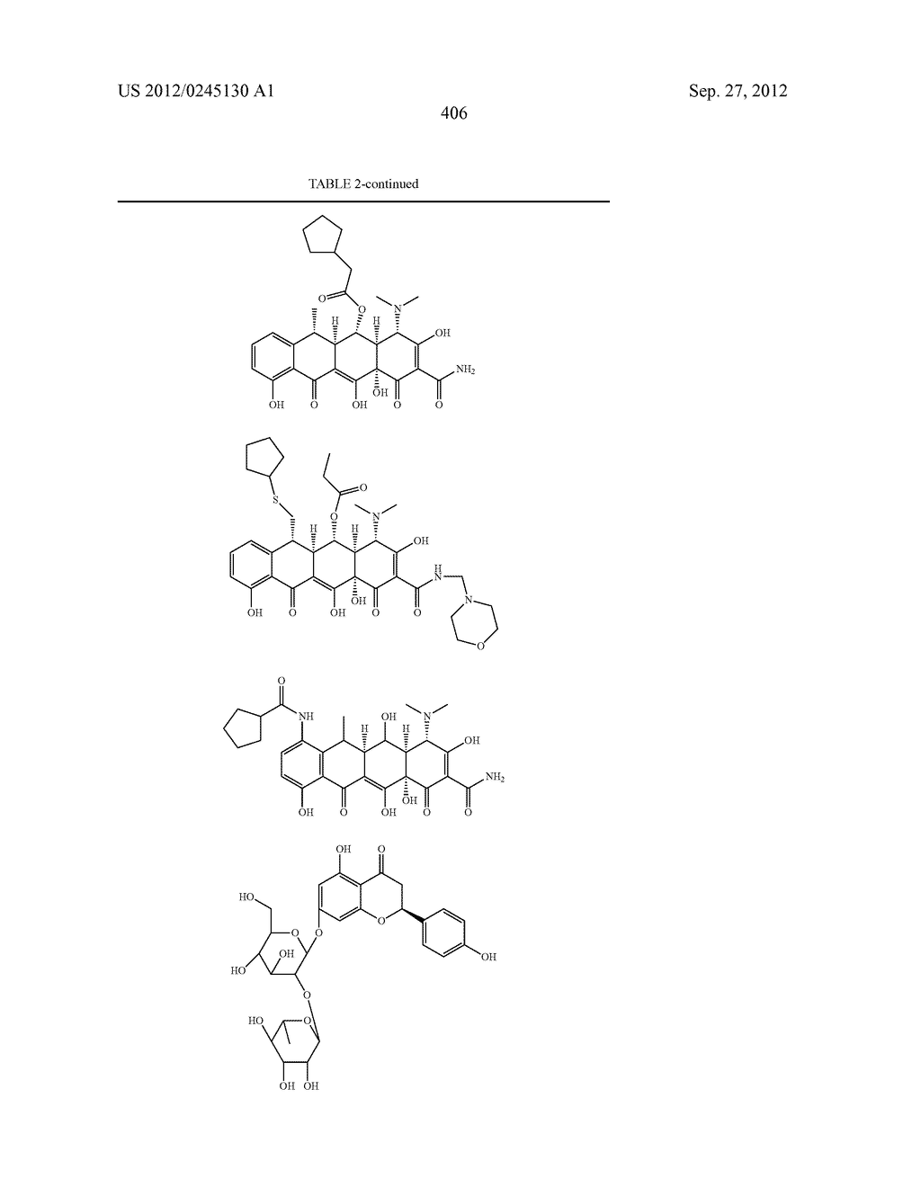Methods of Using Substituted Tetracycline Compounds to Modulate RNA - diagram, schematic, and image 408