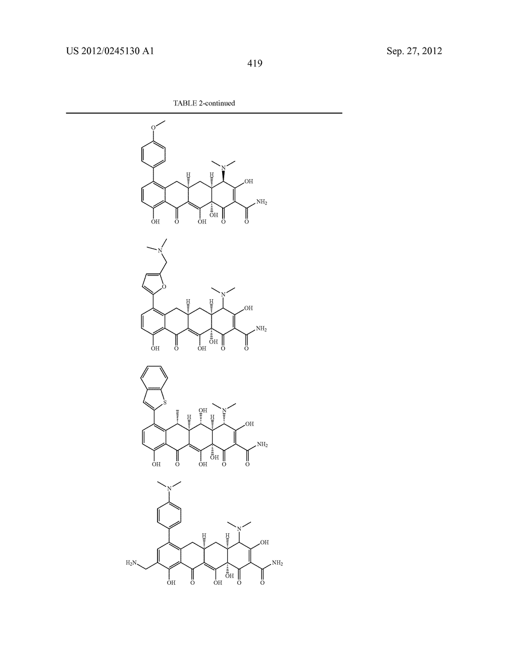 Methods of Using Substituted Tetracycline Compounds to Modulate RNA - diagram, schematic, and image 421