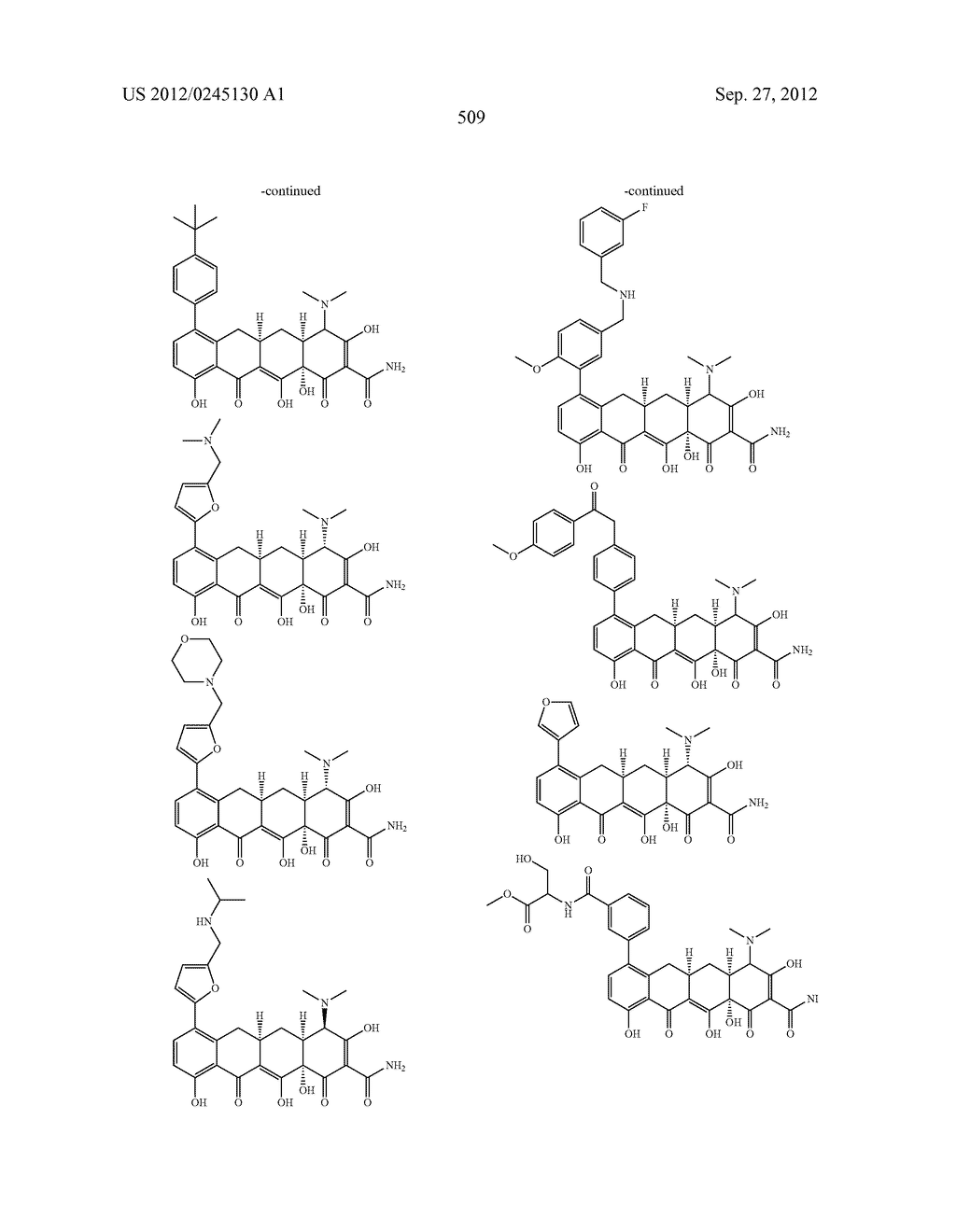 Methods of Using Substituted Tetracycline Compounds to Modulate RNA - diagram, schematic, and image 511