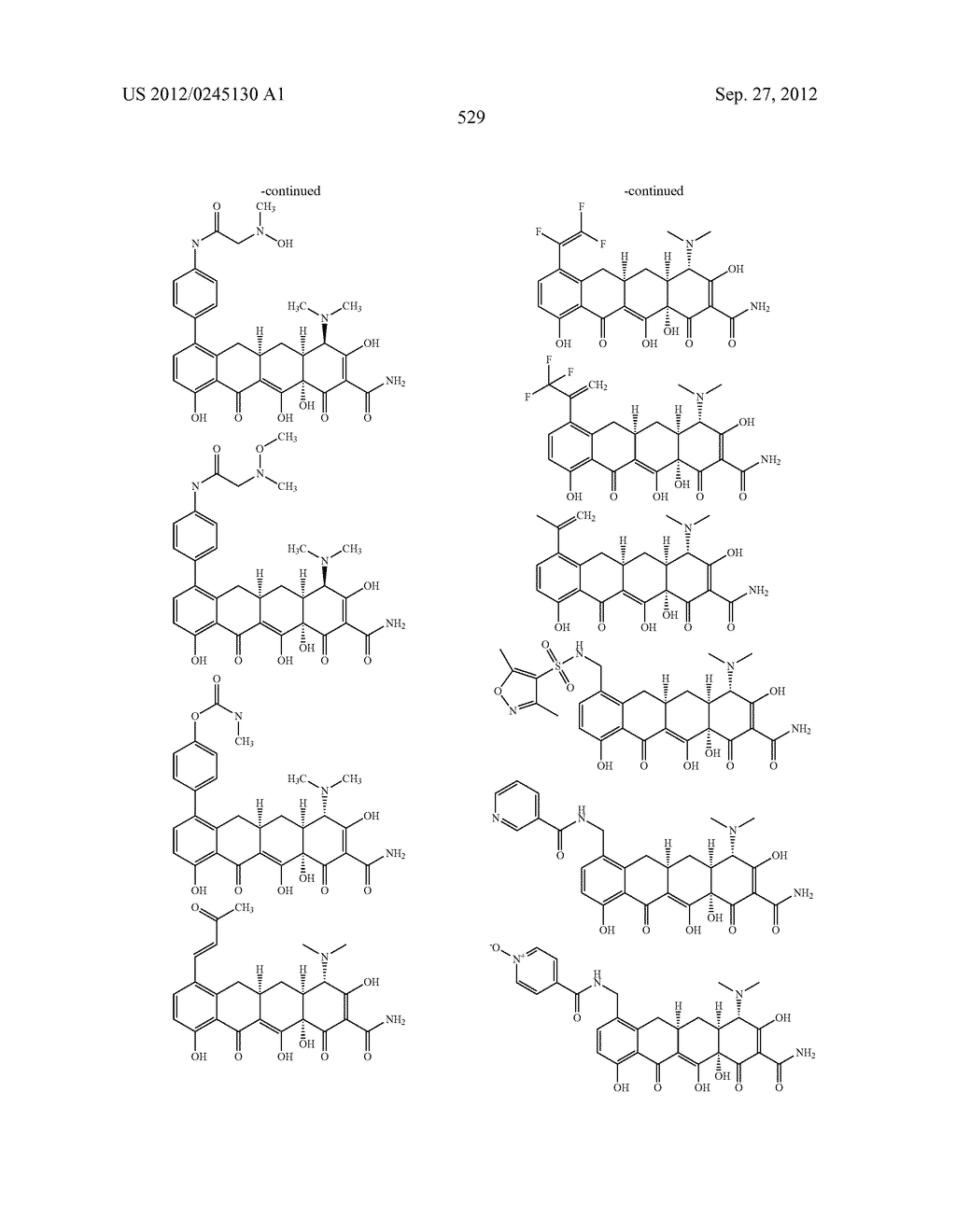 Methods of Using Substituted Tetracycline Compounds to Modulate RNA - diagram, schematic, and image 531