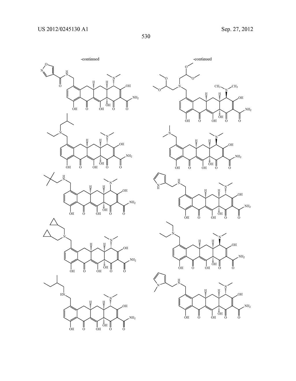 Methods of Using Substituted Tetracycline Compounds to Modulate RNA - diagram, schematic, and image 532