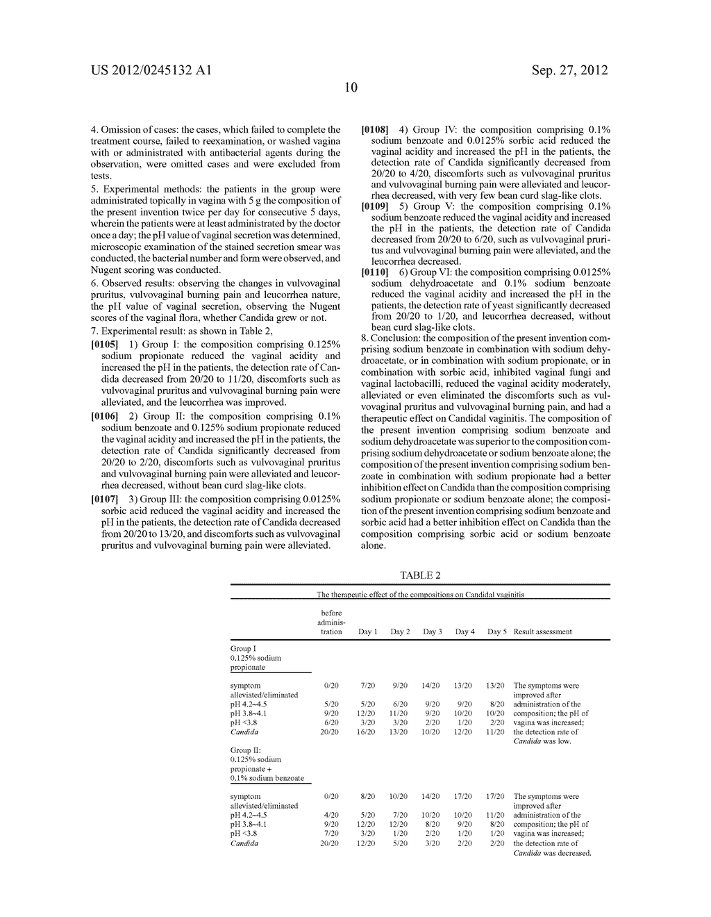 Composition Comprising Benzoic Acid in Combination with Organic Acid     Preservatives as Active Ingredients and the Use Thereof - diagram, schematic, and image 11