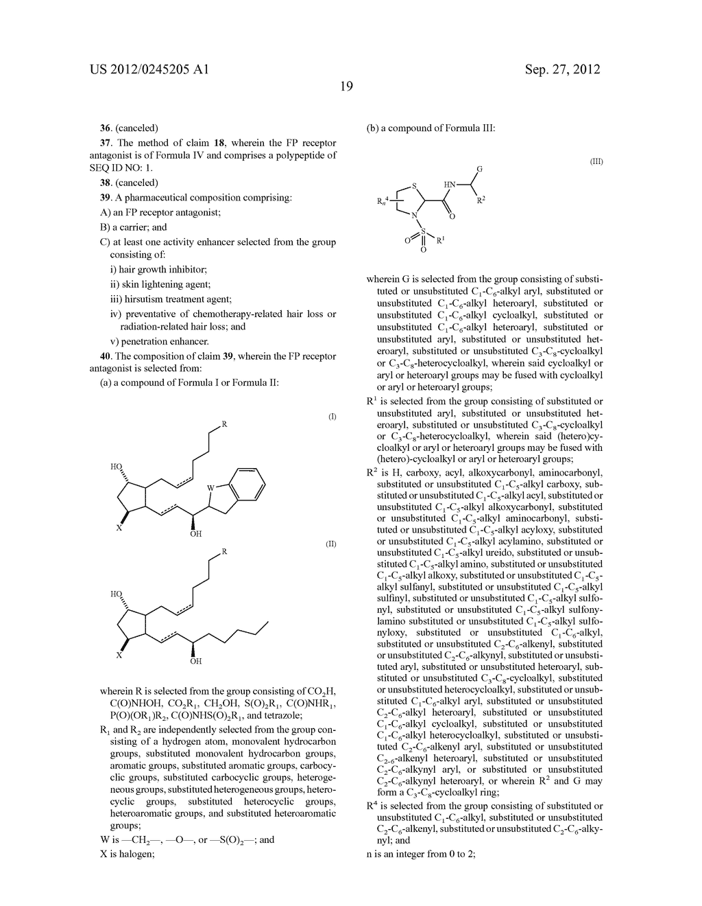 COMPOSITIONS AND METHODS FOR INHIBITING HAIR GROWTH - diagram, schematic, and image 21
