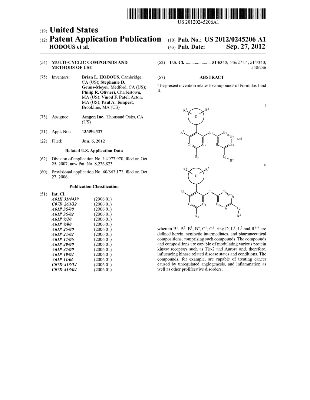 MULTI-CYCLIC COMPOUNDS AND METHODS OF USE - diagram, schematic, and image 01