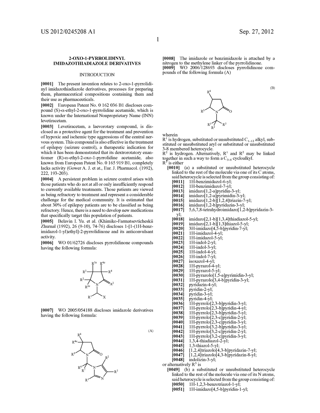 2-Oxo-1-Pyrrolidinyl Imidazothiadiazole Derivatives - diagram, schematic, and image 02