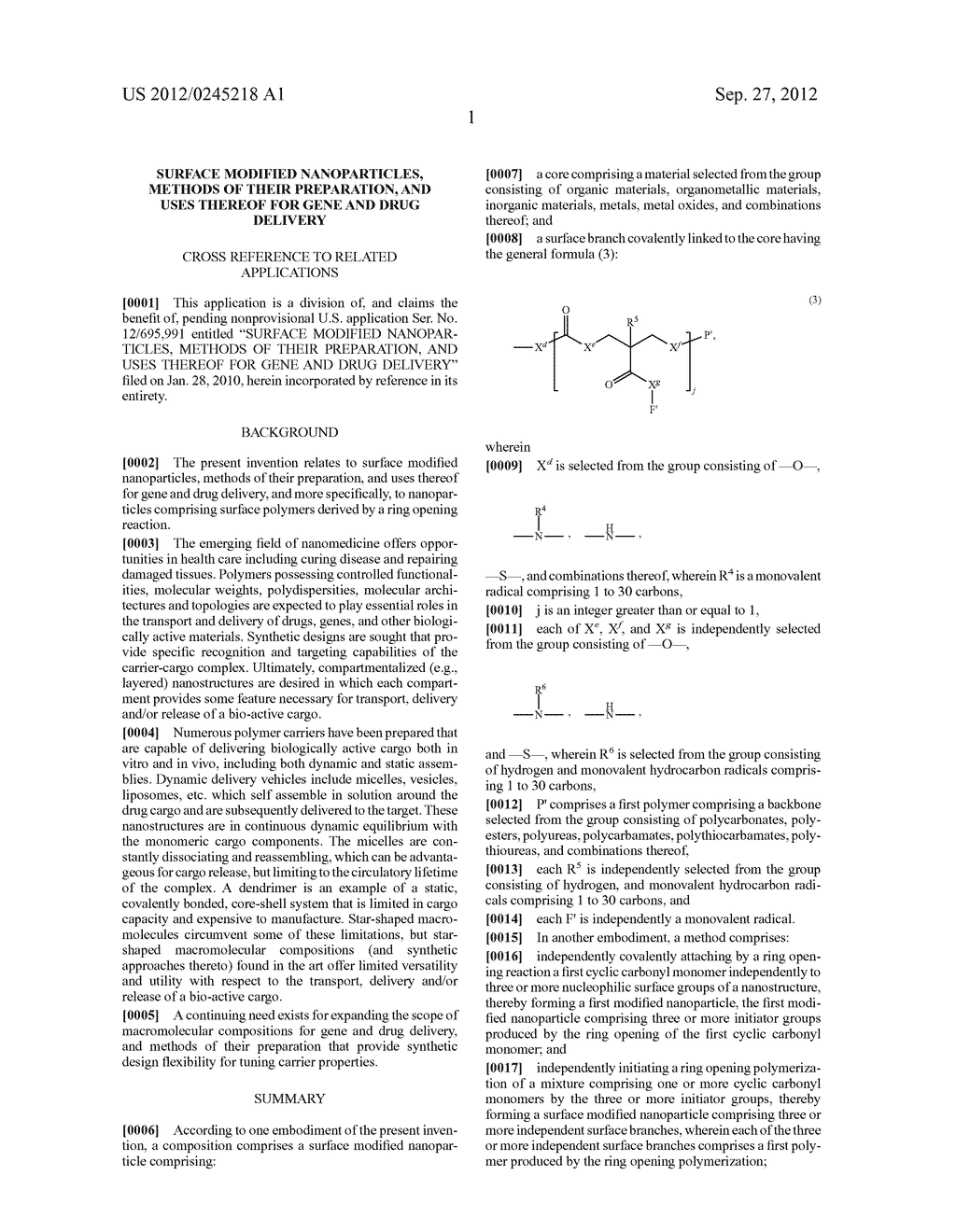 SURFACE MODIFIED NANOPARTICLES, METHODS OF THEIR PREPARATION, AND USES     THEREOF FOR GENE AND DRUG DELIVERY - diagram, schematic, and image 02