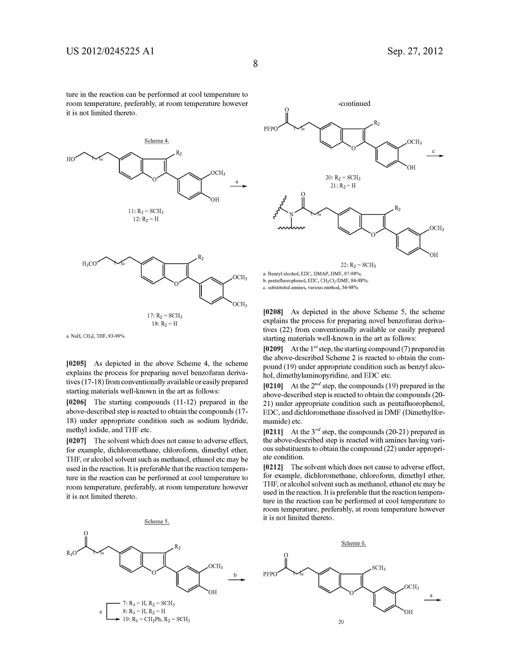 NOVEL BENZOFURAN TYPE DERIVATIVES, A COMPOSITION COMPRISING THE SAME FOR     TREATING OR PREVENTING COGNITIVE DYSFUNCTION AND THE USE THEREOF - diagram, schematic, and image 24