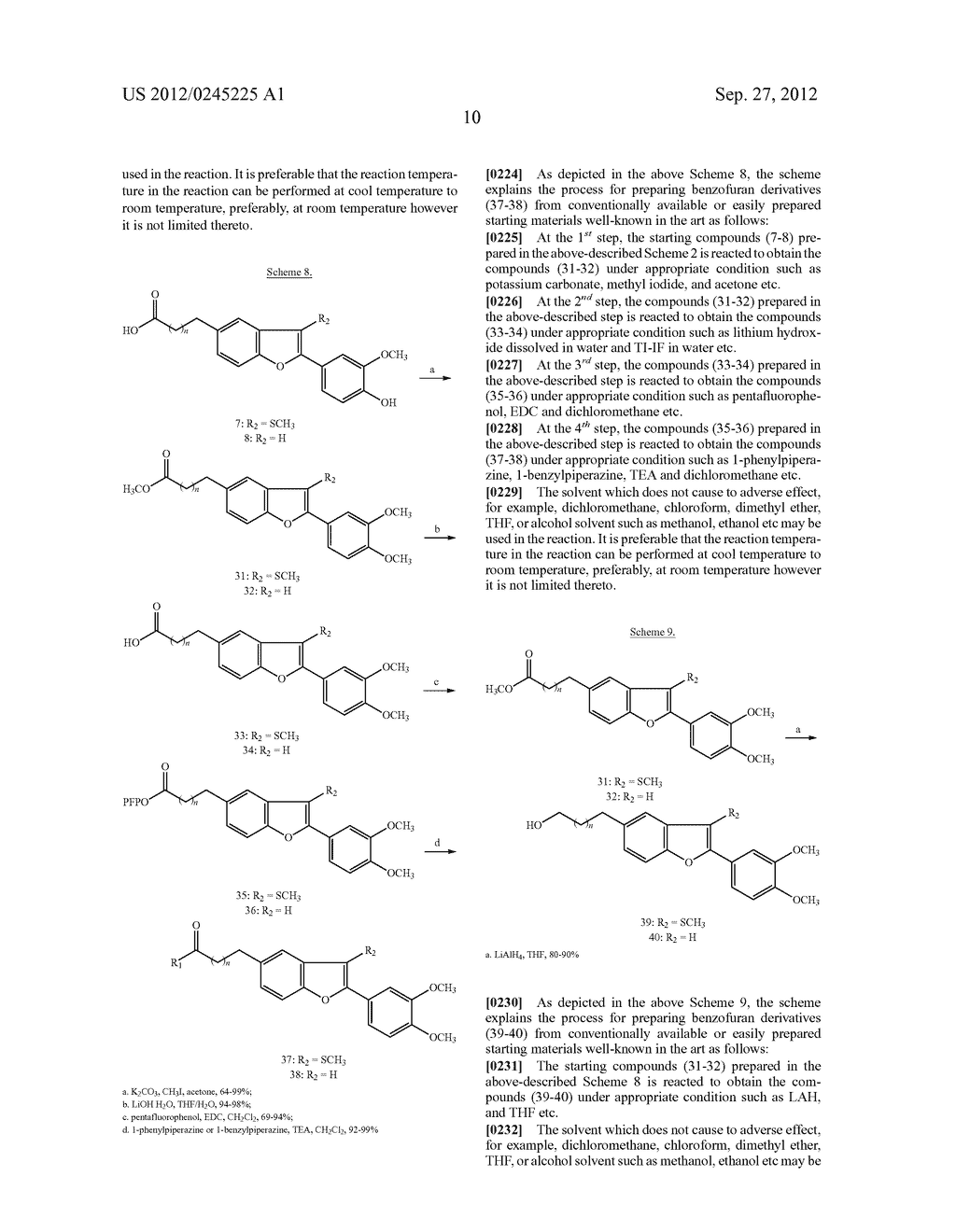 NOVEL BENZOFURAN TYPE DERIVATIVES, A COMPOSITION COMPRISING THE SAME FOR     TREATING OR PREVENTING COGNITIVE DYSFUNCTION AND THE USE THEREOF - diagram, schematic, and image 26
