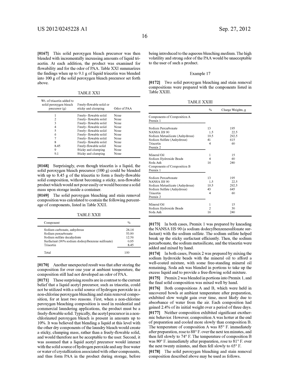 Methods and compositions for the generation of peracetic acid on site at     the point-of-use - diagram, schematic, and image 18