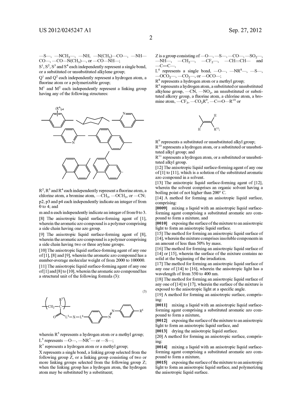 ANISOTROPIC LIQUID SURFACE FORMING AGENT AND ANISOTROPIC LIQUID SURFACE     FORMING METHOD - diagram, schematic, and image 05