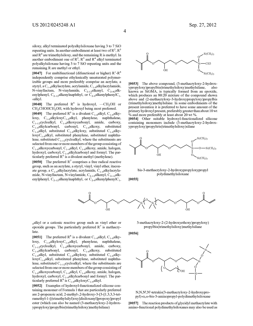 SILICONE HYDROGELS FORMED FROM REACTION MIXTURES FREE OF HYDROPHILIC     MONOMERS - diagram, schematic, and image 05