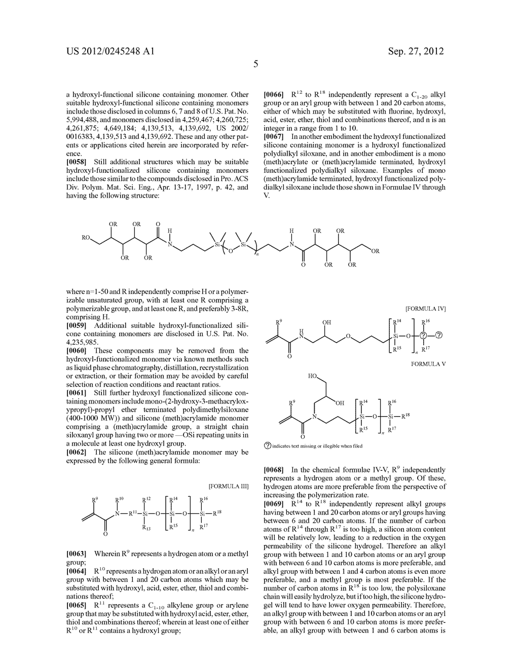 SILICONE HYDROGELS FORMED FROM REACTION MIXTURES FREE OF HYDROPHILIC     MONOMERS - diagram, schematic, and image 06