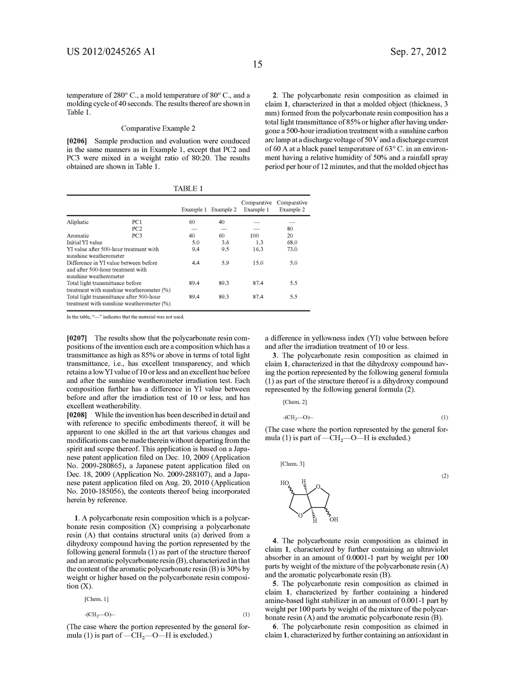 POLYCARBONATE RESIN COMPOSITION AND MOLDED ARTICLE - diagram, schematic, and image 16