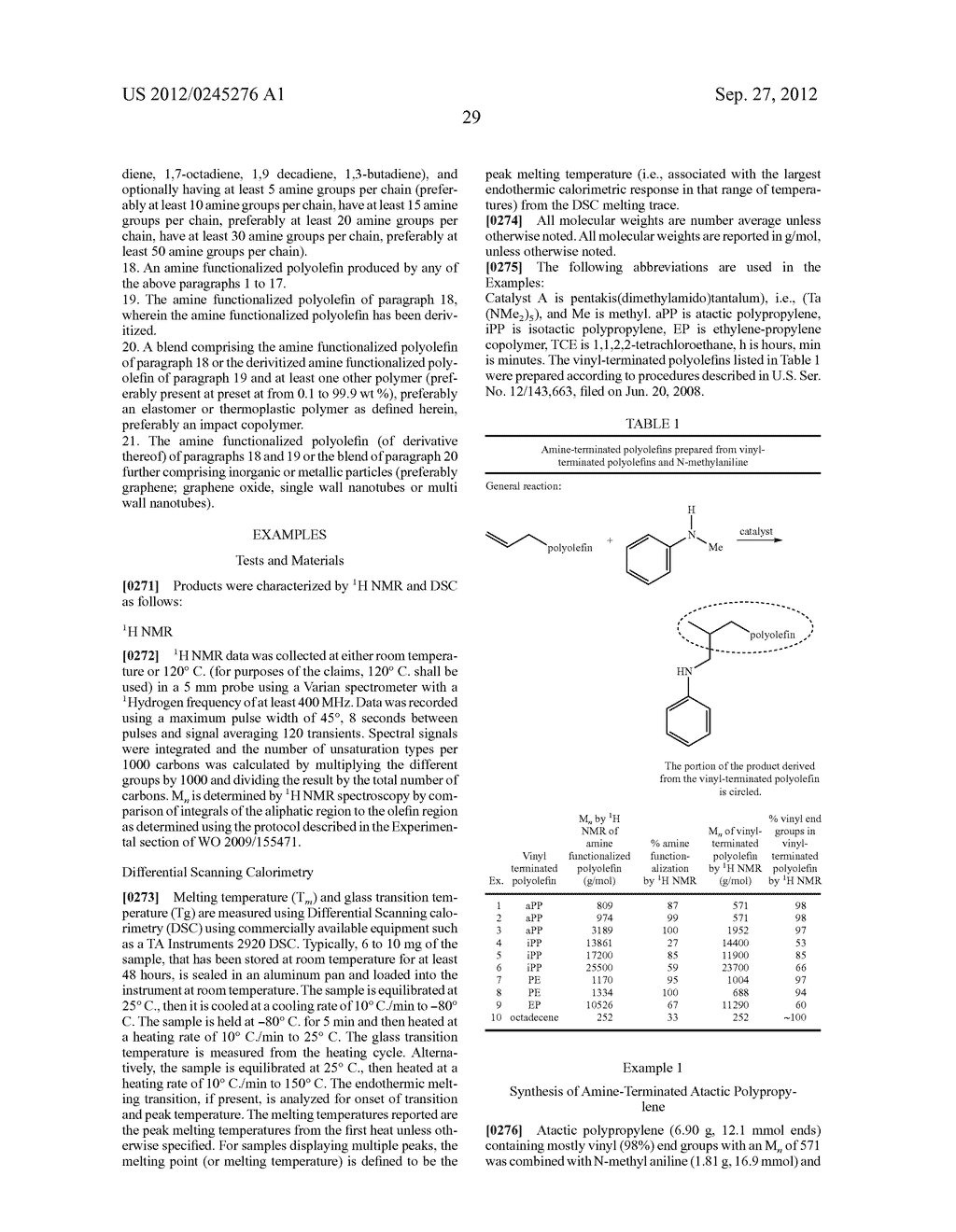 Amine Functionalized Polyolefin and Methods for Preparation Thereof - diagram, schematic, and image 40