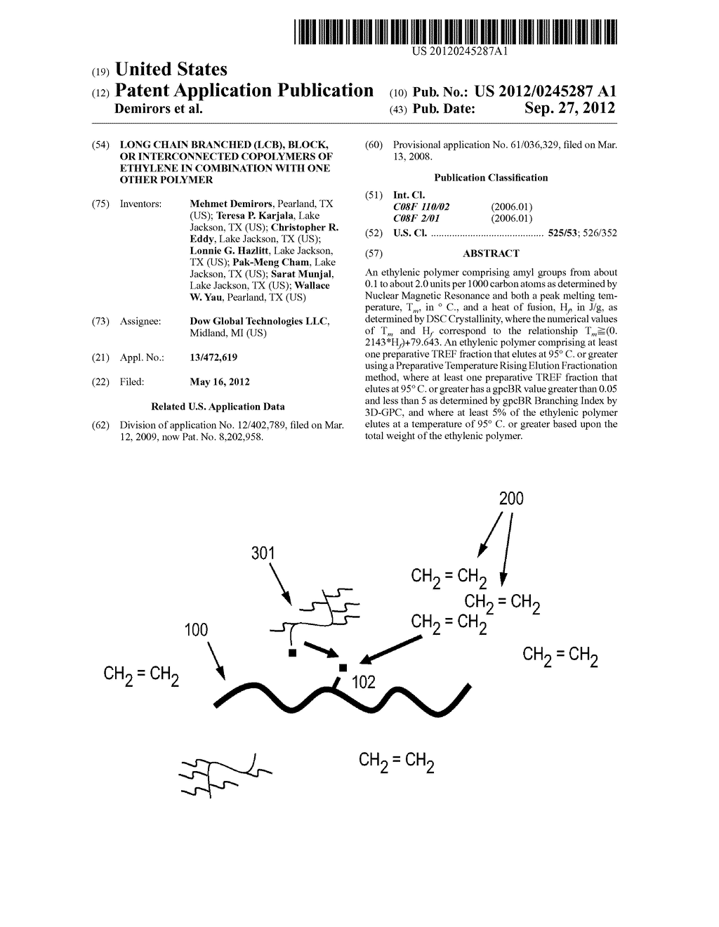 LONG CHAIN BRANCHED (LCB), BLOCK, OR INTERCONNECTED COPOLYMERS OF ETHYLENE     IN COMBINATION WITH ONE OTHER POLYMER - diagram, schematic, and image 01