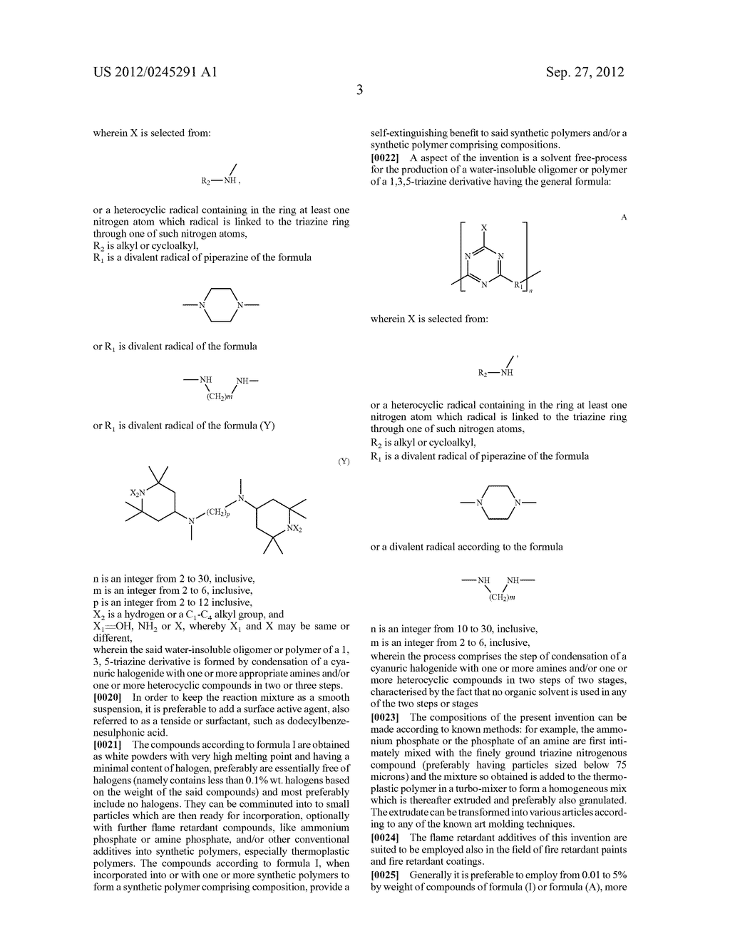 Polytriazinyl Compounds as Flame Retardants and Light Stabilizers - diagram, schematic, and image 04