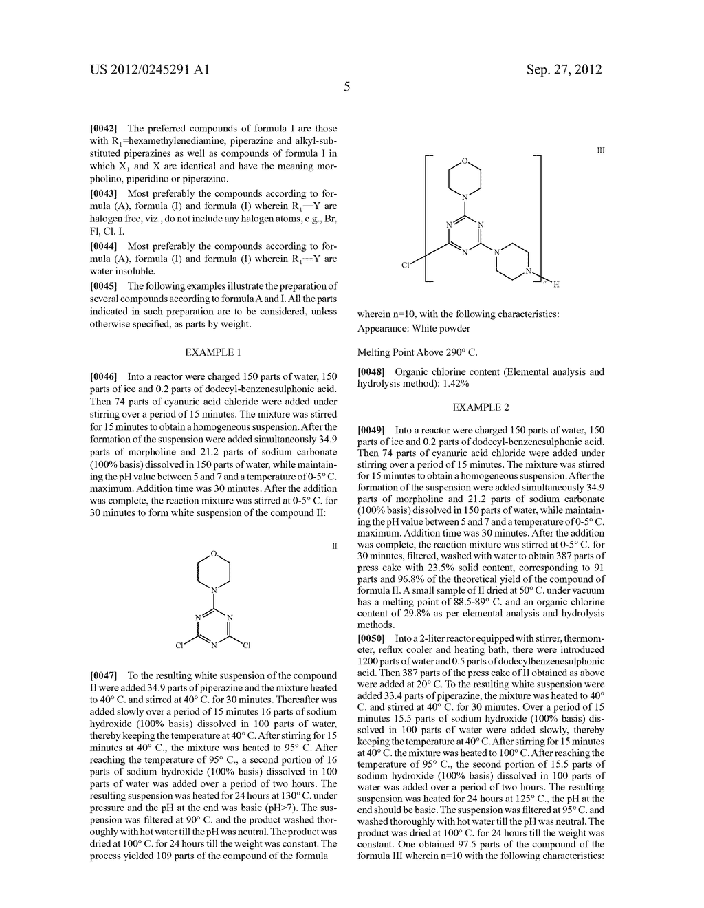 Polytriazinyl Compounds as Flame Retardants and Light Stabilizers - diagram, schematic, and image 06