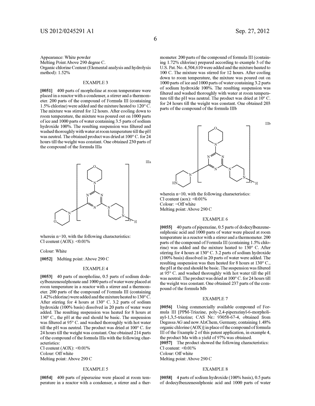 Polytriazinyl Compounds as Flame Retardants and Light Stabilizers - diagram, schematic, and image 07