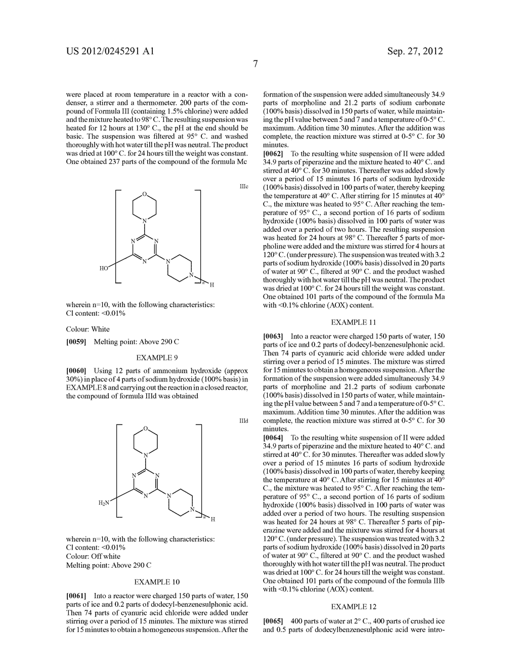 Polytriazinyl Compounds as Flame Retardants and Light Stabilizers - diagram, schematic, and image 08