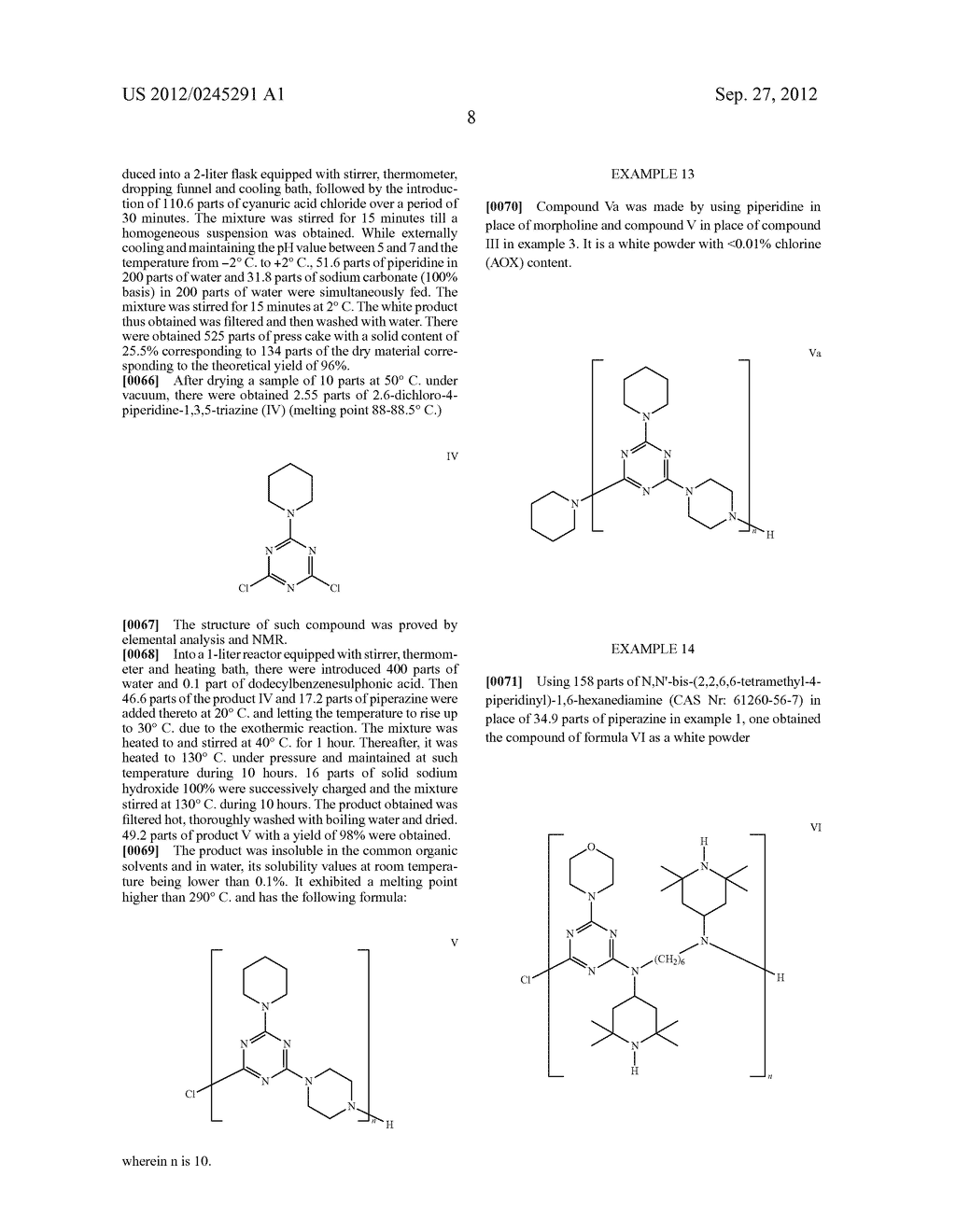 Polytriazinyl Compounds as Flame Retardants and Light Stabilizers - diagram, schematic, and image 09