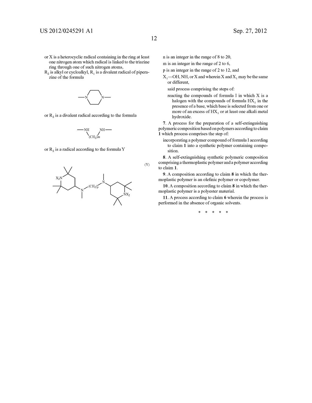 Polytriazinyl Compounds as Flame Retardants and Light Stabilizers - diagram, schematic, and image 13