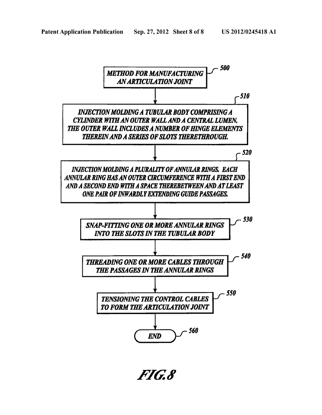 METHOD FOR FORMING AN ENDOSCOPE ARTICULATION JOINT - diagram, schematic, and image 09