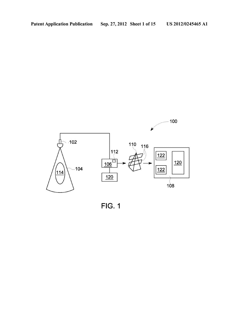 METHOD AND SYSTEM FOR DISPLAYING INTERSECTION INFORMATION ON A VOLUMETRIC     ULTRASOUND IMAGE - diagram, schematic, and image 02
