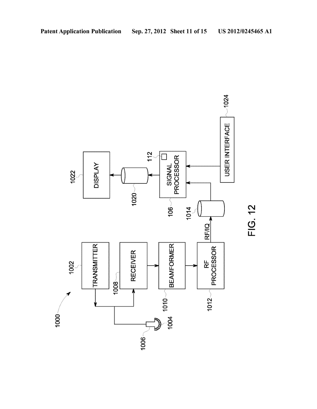METHOD AND SYSTEM FOR DISPLAYING INTERSECTION INFORMATION ON A VOLUMETRIC     ULTRASOUND IMAGE - diagram, schematic, and image 12