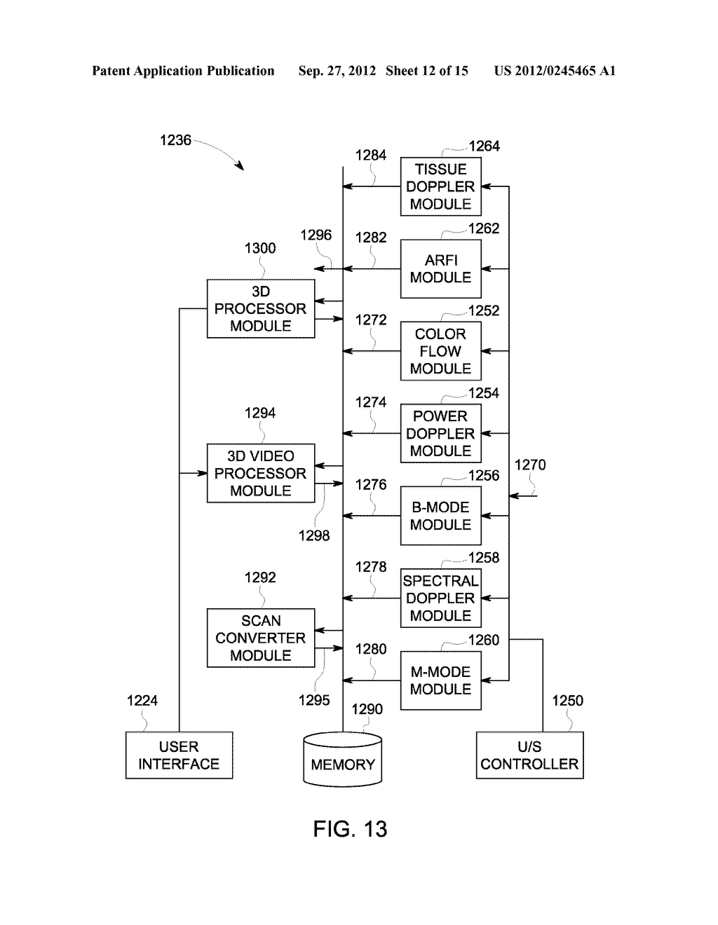 METHOD AND SYSTEM FOR DISPLAYING INTERSECTION INFORMATION ON A VOLUMETRIC     ULTRASOUND IMAGE - diagram, schematic, and image 13