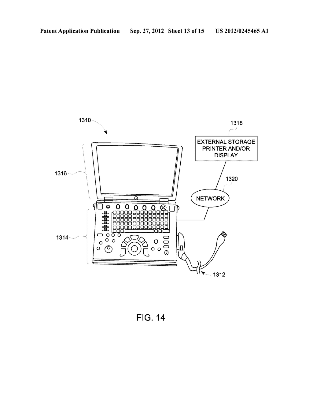 METHOD AND SYSTEM FOR DISPLAYING INTERSECTION INFORMATION ON A VOLUMETRIC     ULTRASOUND IMAGE - diagram, schematic, and image 14
