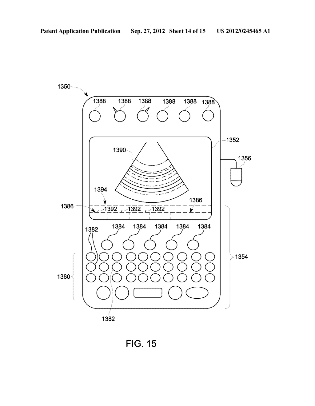 METHOD AND SYSTEM FOR DISPLAYING INTERSECTION INFORMATION ON A VOLUMETRIC     ULTRASOUND IMAGE - diagram, schematic, and image 15