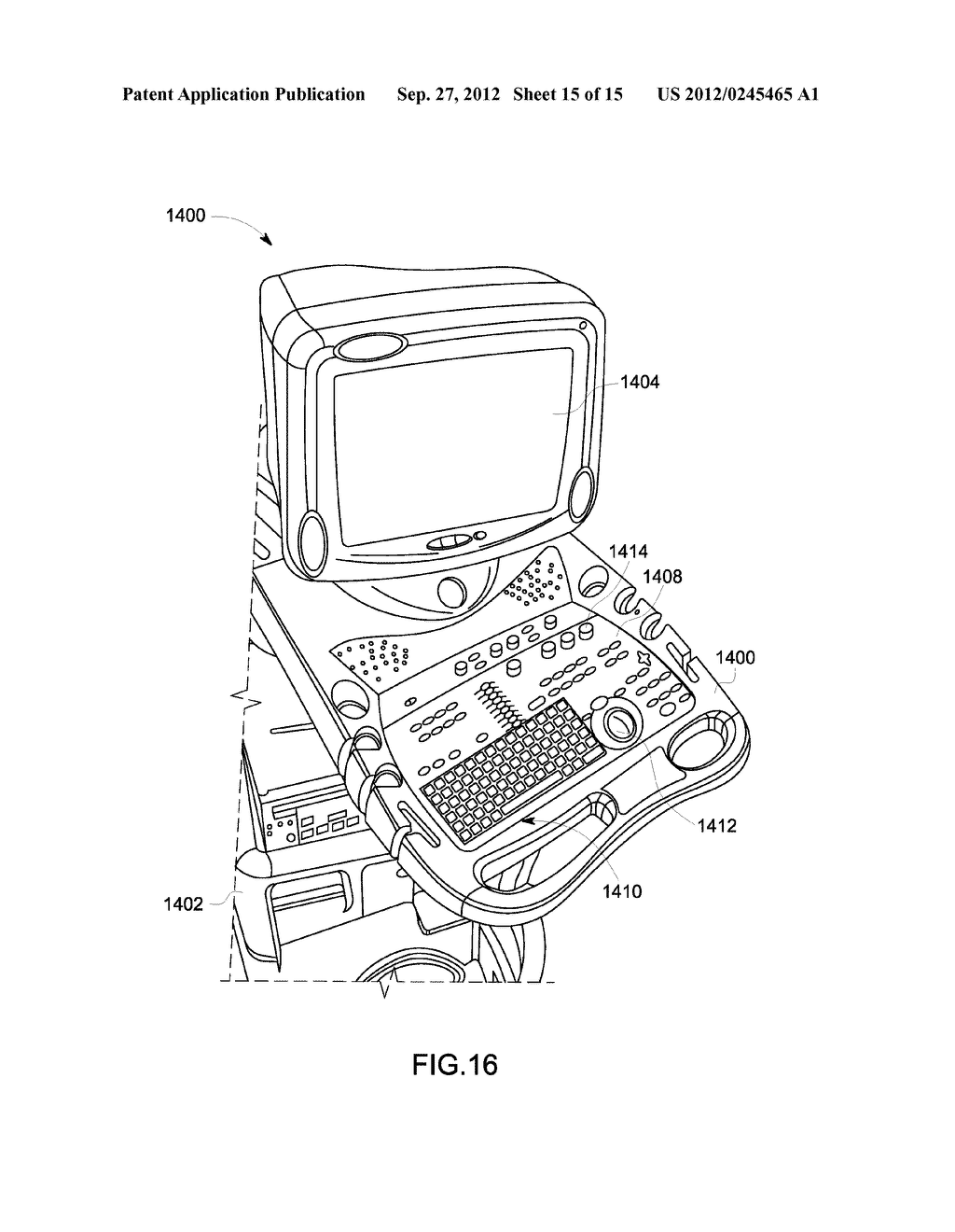 METHOD AND SYSTEM FOR DISPLAYING INTERSECTION INFORMATION ON A VOLUMETRIC     ULTRASOUND IMAGE - diagram, schematic, and image 16