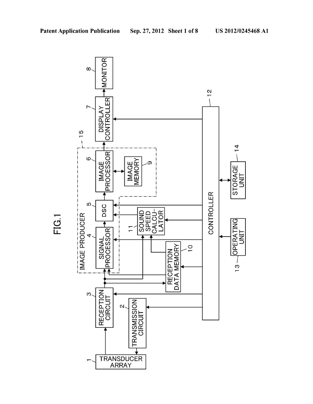 ULTRASOUND DIAGNOSTIC APPARATUS AND METHOD OF PRODUCING ULTRASOUND IMAGE - diagram, schematic, and image 02